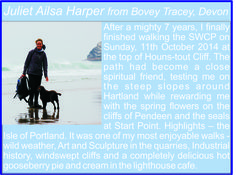 Juliet Ailsa Harper from Bovey Tracey - South West Coast Path Completer South West Coast Path, Cornwall, Paths, Coastal, How To Become, Pictures, Photos, Photo Illustration, Drawings