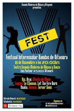 V Fest. Festival de Bandas Escolares hoy en Casa Central a partir de las 20:00 horas!