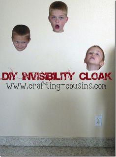 DIY Invisibility Cloak--super easy tutorial.
