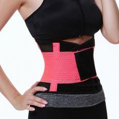 ff66864f9f2 Unique Pink Fitness Gym Waist Cincher Belt Tummy Control