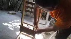como hacer sillas de madera paso a paso - YouTube