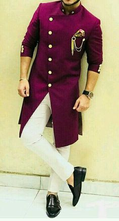 Mens Indian Wear, Indian Groom Wear, Indian Men Fashion, Mens Fashion Suits, Sherwani For Men Wedding, Wedding Dresses Men Indian, Wedding Dress Men, Sherwani Groom, African Wear Styles For Men