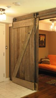 barn door hardware bypass doors on a single rail this would work to replace the closet doors once we have the murphy bed installed