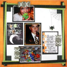 Trick or Treat Exclusive Halloween Scrapbook Layout Idea