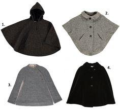 Las capas para niñas más fashion de este invierno 2015