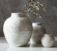 Similar Vases to the Vases on living room console table. Langdon Vases | Pottery…