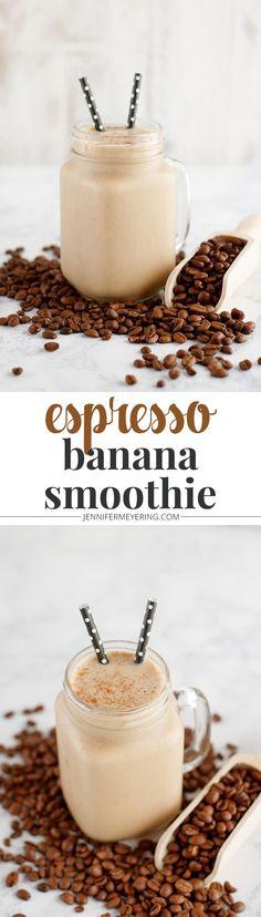 Espresso Banana Smoothie - JenniferMeyering.com