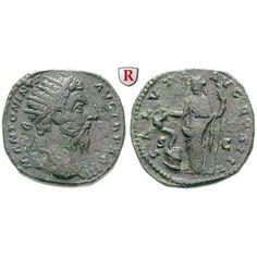 Römische Kaiserzeit, Marcus Aurelius, Dupondius 169, ss+: Marcus Aurelius 161-180. Messing-Dupondius 25 mm 169 Rom. Kopf r. mit… #coins