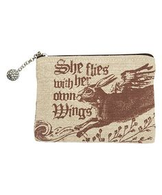 Look at this 'Her Own Wings' Zip Case on #zulily today!