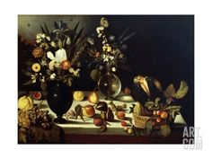 Still Life with Flowers and Fruit Giclee Print by Caravaggio at Art.co.uk
