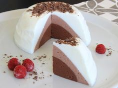 Meringue Pavlova, Chocolate Cheesecake, Sin Gluten, No Bake Desserts, Tres Chocolates, Panna Cotta, Healthy Eating, Healthy Recipes, Baking