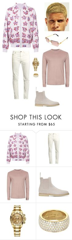 """Untitled #195"" by chawkideida ❤ liked on Polyvore featuring Faith Connexion, Yves Saint Laurent, Topman, Common Projects, Rolex, Cartier, men's fashion and menswear"