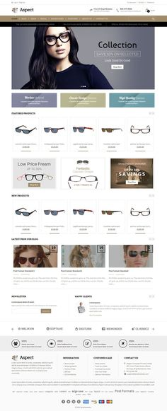 Aspect is #wordpress ecommerce #theme based on WooCommerce plugin. It is suitable for sunglasses or specs and fashion designer related online stores. It is also multipurpose theme which can be used for any kind of online store. Aspect WooCommerce theme is looking good with it's clean and fresh design. All sub pages are customized. http://www.templatemela.com/aspect-woocommerce-responsive-theme.html