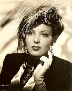 Linda Darnell ~ Another star my mom saw in person in L.A. during the war. She said she was absolutely stunning.
