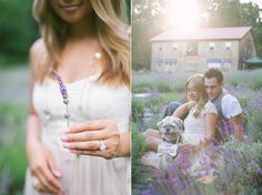 Annie + John: Engagement Session in lavender fields