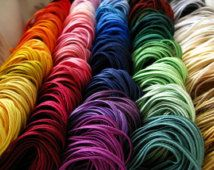 Set di SOUTACHE - 60 colori x 1 metro di soutache rayon di grande qualità per ricamo soutache. Starter kit di 60 metri per i gioielli di soutache