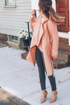 Fall/Winter Trends: Styling a Pink Coat | Prosecco & Plaid