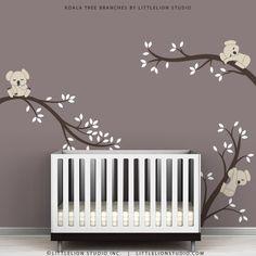 Kids Wall Decals Modern Cute Baby Room Tree Wall Sticker - Koala Tree Branches by LittleLion Studio. $79.00, via Etsy.