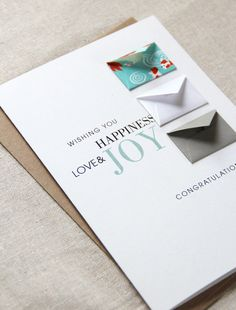 Congratulations. Wedding Tiny Envelopes Card by LemonDropPapers