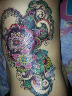 watercolor paisley tattoo - Google Search