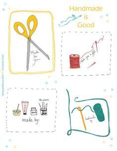 Tag regalo fatto a mano per Foglio blog