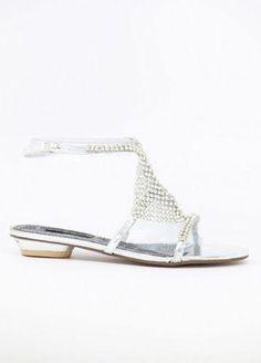 aa5511dd821ac6 silver rhinestone prom shoes flat - Google Search  Promshoes