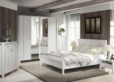 Scala Komplett-schlafzimmer Kiefer Weiss 5-trg | Traumhaus ... Schlafzimmer Landhausstil Kiefer