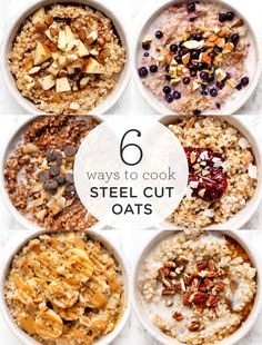 How to cook steel cut oats in the instant pot - with 6 different healthy delicious recipes You ll LOVE how quick it is to make these vegan recipes for breakfast steelcutoats steelcutoatrecipe howtocookoats Healthy Oatmeal Recipes, Healthy Breakfast Recipes, Healthy Breakfasts, Vegan Breakfast, Healthy Food, Cheap Clean Eating, Clean Eating Snacks, Gourmet Recipes, Delicious Recipes