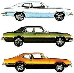 The bottom one is my first car! 1974 Ford Maverick it was green and actually my 2nd car