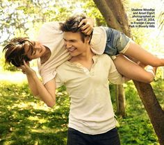 Shailene Woodley, Ansel Elgort (The Fault in Our Stars/tfios/Nos étoiles contraires - pour le magazine Entertainment Weekly)