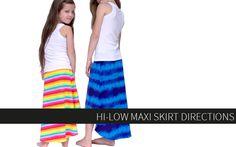Hi-Low Maxi Skirt Directions