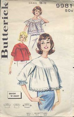 Angel Blouses of the 1960's.  Usually white cotton with cotton lace... how I loved mine :)