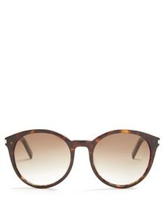 Classic round-frame acetate sunglasses   Saint Laurent   MATCHESFASHION.COM AU