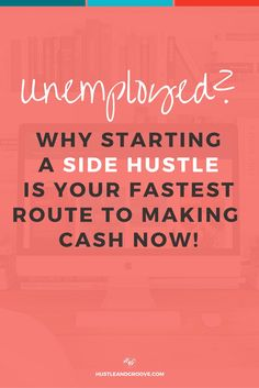 Why starting a side hustle is your best option when you're unemployed. Click…