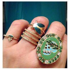 nice green repost from @museshowroom in the company of @michellefantacijewelry and @yossihararijewelry