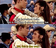 How to slow dance. | 21 Times Kelly Kapowski Taught Us How To Live (My Two Faves on one of my fave shows growing up.)