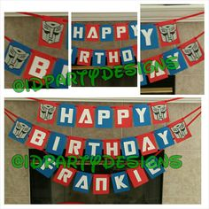 Transformers Banner - Optimus Prime, Decepticon, Autobot, Bumblebee by IDPartyDesigns on Etsy https://www.etsy.com/listing/204561616/transformers-banner-optimus-prime