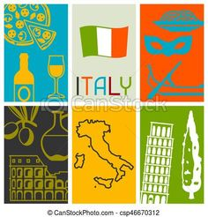 Vector - Italy background design. Italian symbols and objects - stock illustration, royalty free illustrations, stock clip art icon, stock clipart icons, logo, line art, EPS picture, pictures, graphic, graphics, drawing, drawings, vector image, artwork, EPS vector art