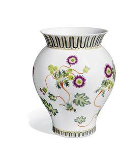 "Vase ""Stylised Flowers"", Stylised flower painting after Börner, H 36,5 cm"