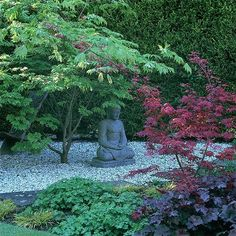 I'm so into the zen gardens. I pin different gardens but I would soooo get a zen type landscaping/garden