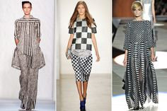 B Mixed Prints — Last season, it was all about mixing colorful prints, which took a lot of practice (and a lot of courage) to pull off correctly. This year, designers have given us a little break and boiled it down to just two colors: black and white. In graphic checks, stripes, florals, and more, black-and-white prints are super easy to mix, and offer a huge payoff
