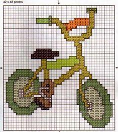 **Blog Amor Perfeito** Gráficos de ponto cruz: Bicicletas                                                                                                                                                                                 Mais