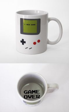 Gameboy Cup. Want. This handheld device got me through many rough nights when my dad was in the hospital for 2 months in 1992. Tetris was my late night ICU friend.