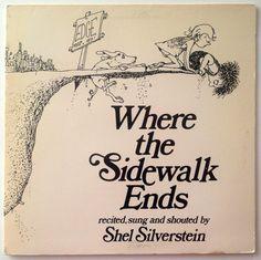 Shel Silverstein - Where The Sidewalk Ends LP Vinyl Record Album, Columbia - FC 39412, Poetry, Story, 1984, Original Pressing