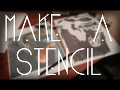 how to make your own stencil letters