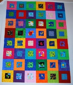 I'd love to make one of these eye spy quilts. I'd better get at it though or all of my grandchildren will be too old to play the game.