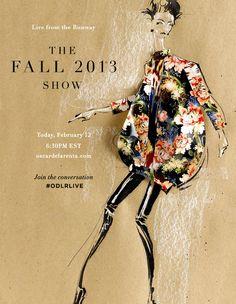 the Fall 2013 Oscar de la Renta runway show
