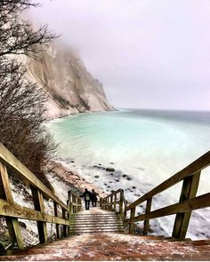 """Breathtaking. Møns Klint chalk cliffs along the eastern coast of the Danish island of Møn in the Baltic Sea."