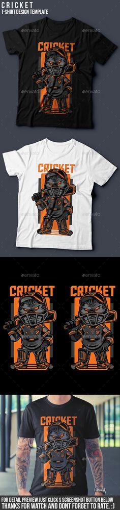 Cricket TShirt Design — Vector EPS #awesome #merchendise