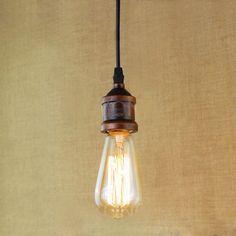 Závesné kovové mohutné svietidlo v retro dizajne v bronzovej farbe